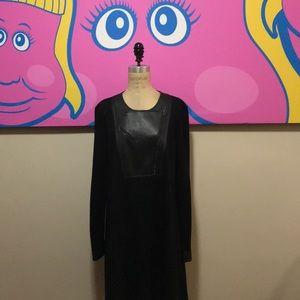 BCBG MaxAzria black swing Dress Faux Leather